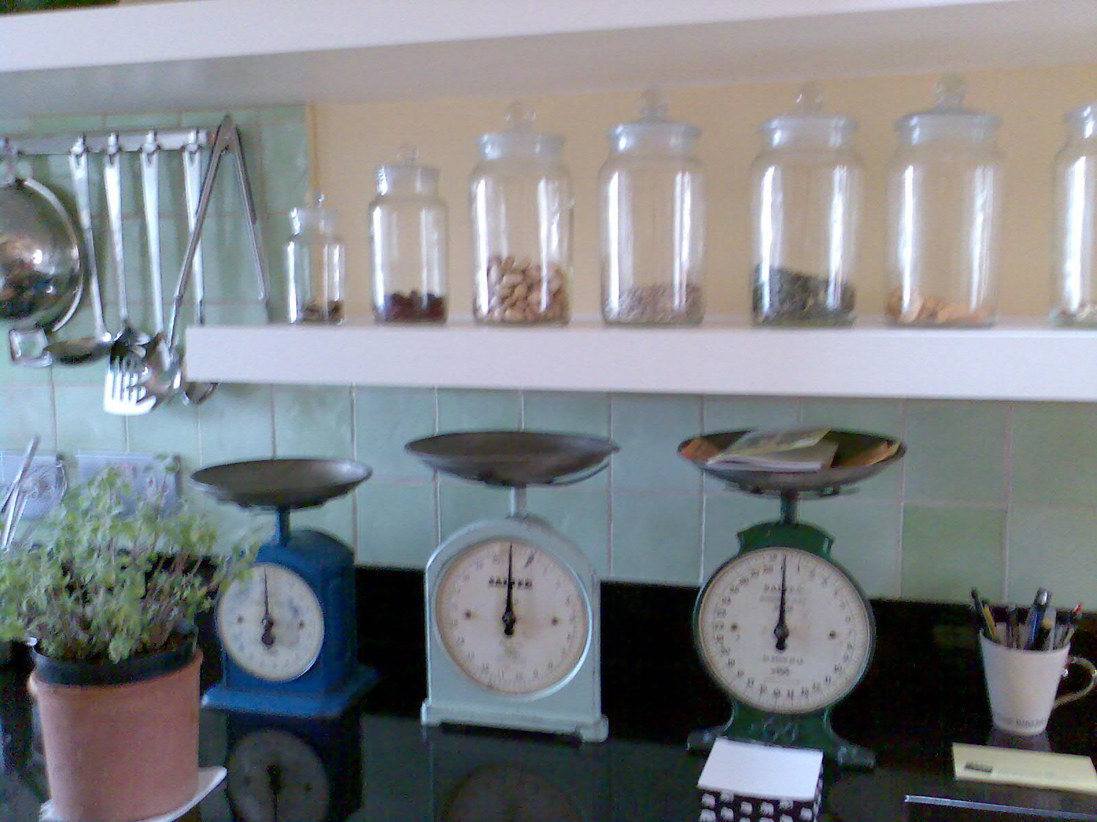 kitchen counter close up. Kitchen RHS Counter And Galss Jars Close-up.jpg Close Up